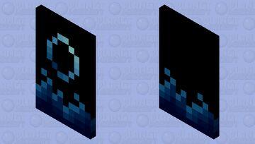 Aqua Cape Minecraft Mob Skin
