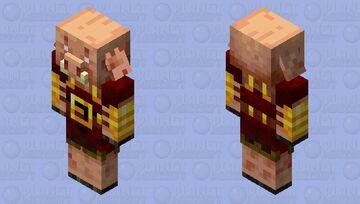 Piglin Hunter Red (Java) Minecraft Mob Skin