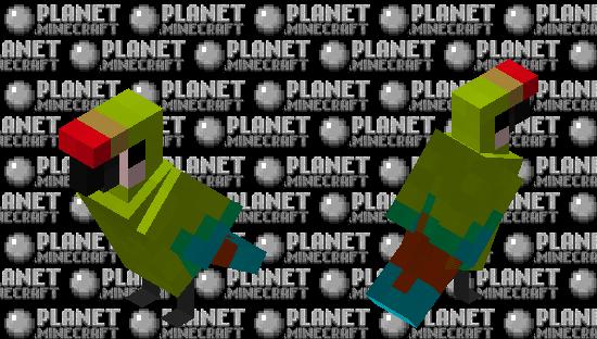 Great Green Macaw Minecraft Skin