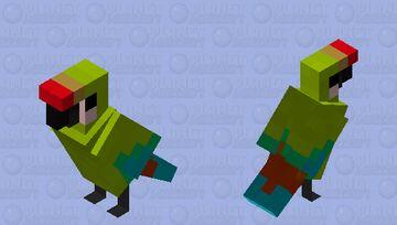 Great Green Macaw Minecraft Mob Skin