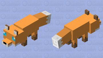 kawai pastel fox fox skin Minecraft Mob Skin