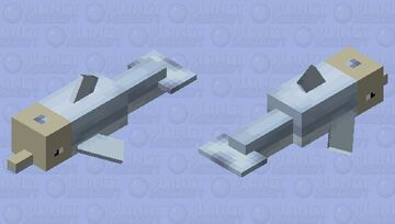 Skull dolphin(Bedrock) Minecraft Mob Skin