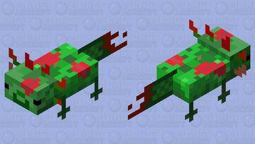 Zombie Axolotl Minecraft Mob Skin