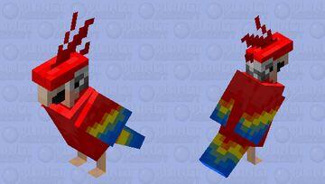 Modern Style Parrot Minecraft Mob Skin