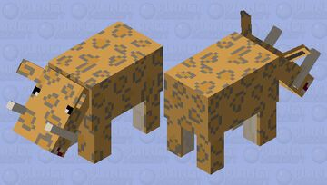 Sabre Toothed Tiger, made from a Hoglin. Minecraft Mob Skin