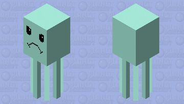 Angry squid Minecraft Mob Skin