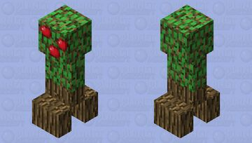 creeper tree with apples ( fourth stage)(ver.4) Minecraft Mob Skin