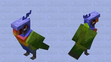 Rainbow Lorikeet HD Parrot Minecraft Mob Skin
