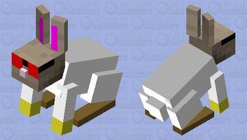 Scientist Rabbit Minecraft Mob Skin