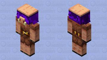 Piglin In Warped Forest (Bedrock Model) Minecraft Mob Skin