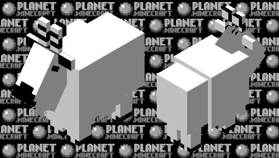 Black & white goat Minecraft Skin
