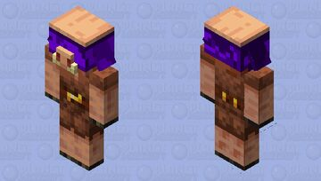 Piglin In Warped Forest (Java Model) Minecraft Mob Skin