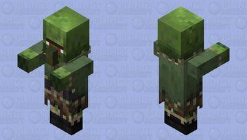 1.14 Tiaga Zombie Nitwit Minecraft Mob Skin