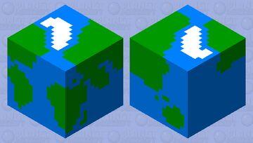 Earth globe Minecraft Mob Skin