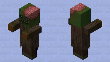 A More Realistic Zombie Villager Minecraft Mob Skin