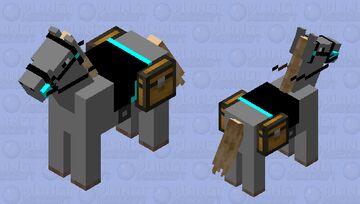 Nice Turquoise Saddled Horse #2 Minecraft Mob Skin
