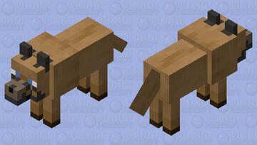 brown wolf Minecraft Mob Skin