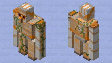 Molten Iron Golem Minecraft Mob Skin
