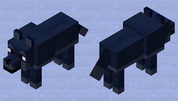 Midnight wolf Minecraft Mob Skin