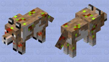 Lobo salvaje prehistorico(con ramitas,hojas y piedritas extra) Minecraft Mob Skin