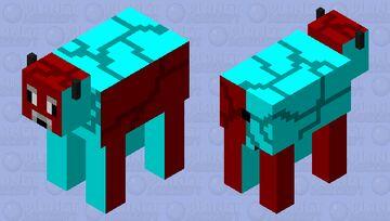 Warped mooshroom Minecraft Mob Skin