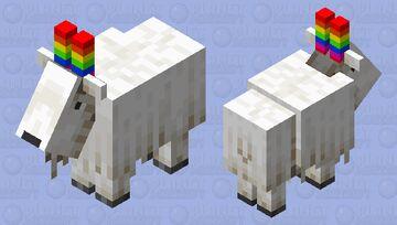 Rainbow goat horns Minecraft Mob Skin