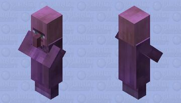 A fellow villager has somehow enchanted himself Minecraft Mob Skin