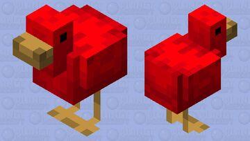 Red Bird Minecraft Mob Skin