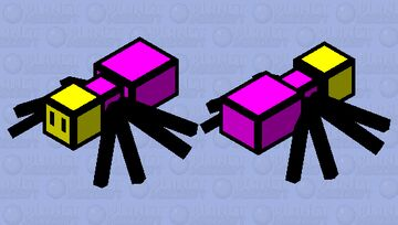 Spider As A Yellow Head Minecraft Mob Skin