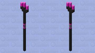 purple neon trident Minecraft Mob Skin