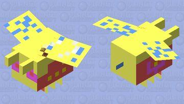 Flowery the summer bee 🐝 Minecraft Mob Skin