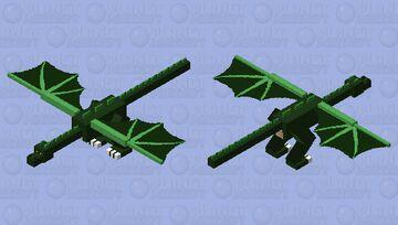 Green Wyvern Minecraft Mob Skin
