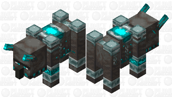 Glow Infected Ravager Minecraft Skin