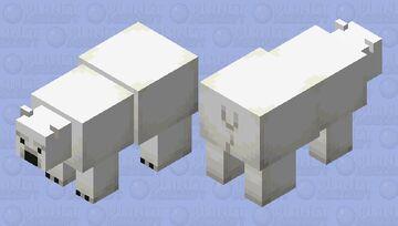 noseless polar bear (noseless edition) Minecraft Mob Skin