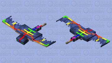 Colorful phantom exoskeleton Minecraft Mob Skin