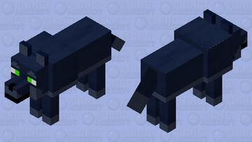 Midnight wolf with lime green eyes Minecraft Mob Skin