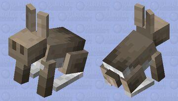 noseless rabbit (noseless edition) Minecraft Mob Skin