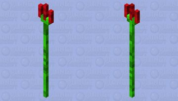 Green and red trident Minecraft Mob Skin