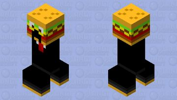 Burger Creeper in a Suit Minecraft Mob Skin