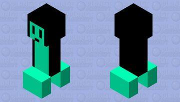 Sea Slug in a Cloak Minecraft Mob Skin