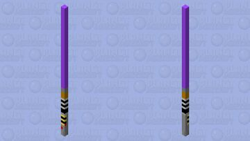 Purple Lightsaber [Fixed] Minecraft Mob Skin