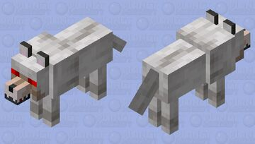 beater angry wolf Minecraft Mob Skin