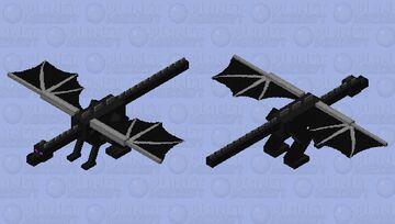 Slightly improved HD ender dragon Minecraft Mob Skin