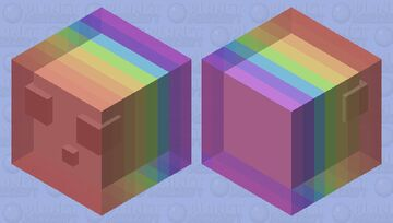 Bouncy rainbow Minecraft Mob Skin