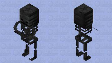 Wither Skeleton Villager / original textures / Normal Minecraft Mob Skin