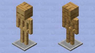Smooth Armor-stand with head Minecraft Mob Skin