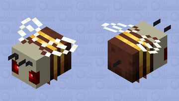 Angry Skull bee Minecraft Mob Skin