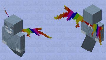 Rainbow vex wings Minecraft Mob Skin