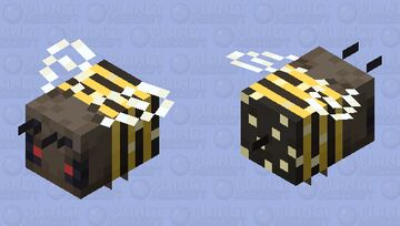 Africanized Bee (Pollinating, aggressive) Minecraft Mob Skin