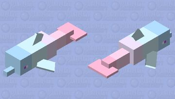 Pastel colored Dolphin Minecraft Mob Skin